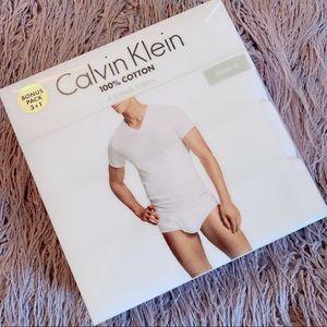 Calvin Klein V Neck T shirt pack of 4